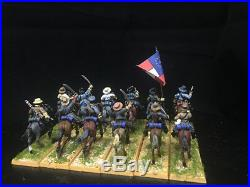 1/56 28mm American Civil War DPS Painted ACW Confederate Cavalry GH1488