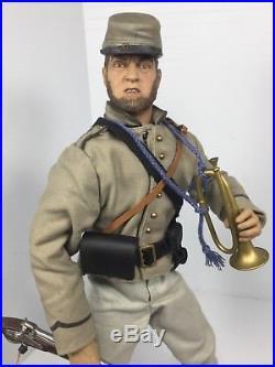 1/6 Sideshow Csa Confederate Infantry Bugler Musket CIVIL War Dragon Bbi DID 21