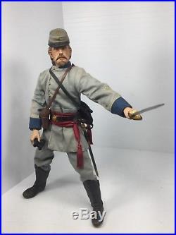 1/6 Sideshow Csa Confederate Infantry Officer CIVIL War Sword Dragon Bbi DID 21