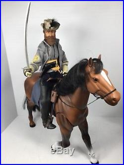 1/6 Sideshow Us CIVIL War Confederate Gen. J. E. B. Stuart & Horse Dragon DID Bbi