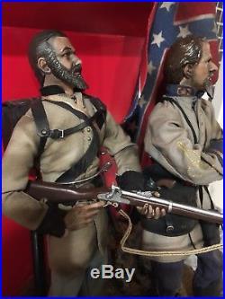 1/6 SideshowithIgnite/DID/Custom Confederate Civil War Battle Scene