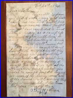 10 Confederate Civil War Letters, N. Carolina 61st Rgt. CSA, Siege Petersburg VA