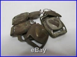 10 Old Rare Vintage Civil War Relic Confederate Brass Horse Harness Buckle Cover