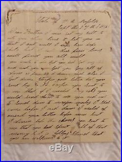 12th NC INFANTRY CONFEDERATE CIVIL WAR LETTER Sept. 17, 1861