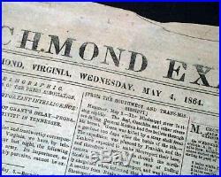 13th THIRTEENTH AMENDMENT Abolition of Slavery 1864 CONFEDERATE Civil War News