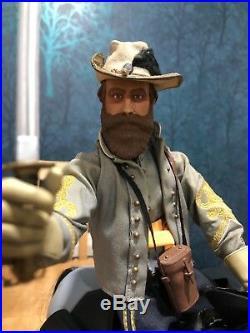 16 Dragon Sideshow US Civil War Confederate Gen J. E. B Stuart & Horse + Officer