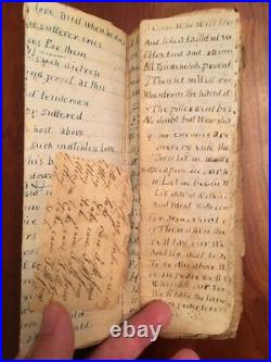1850-60s Handwritten Notebook Hymns Prayers Civil War Confederate 7th SC Cavalry