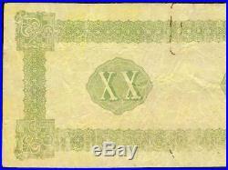 1861 $20 Female Riding Deer Confederate States Bogus Note CIVIL War Money Ct-xxi