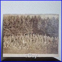 1861 CIVIL WAR Confederate Soldiers Group Photograph Original Antique Framed