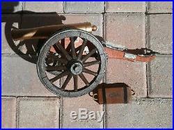 1861 Confederate Civil War Field Artillery Cannon & Ammo Box Museum Quality