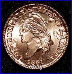 1861 Confederate States Cent Bashlow Restrike Cancelled Dies CSA 1c Civil War Co