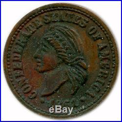 1861 Confederate States Of America CSA Civil War 1/20 Coin