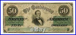1861 T-16 PF-1 $50 The Confederate States of America Note CIVIL WAR Era