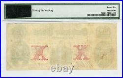 1861 T-26 $10 The Confederate States of America Note CIVIL WAR Era PMG VF 25