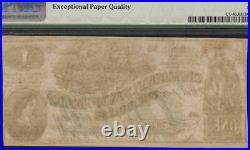 1862 $1 Confederate States Counterfeit CIVIL War Note Money Ct-45 Pmg 63 Epq