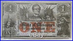 1862 $1 Missouri Confederate Civil War Bank Note PC-317