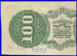 1862 $100 Dollar Bill CIVIL War Confederate States Currency Note Better T-49