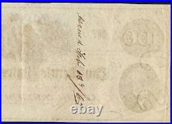 1862 $100 Dollar Bill Confederate States Currency CIVIL War Hoer Note Money T-41