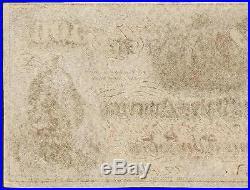 1862 $100 Dollar Bill Confederate States Currency CIVIL War Hoer Note T-41 Au