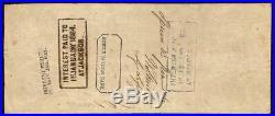 1862 $100 Manuscript Note Mobile Alabama Stamp Confederate States CIVIL War T-39