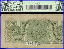 1862 $50 Dollar Bill Confederate States Currency CIVIL War Note Better T-50 Pcgs