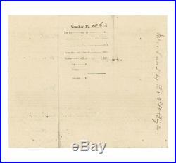 1862 Civil War Confederate Pay Voucher Lt. Agar, 1st Louisiana Heavy Artillery