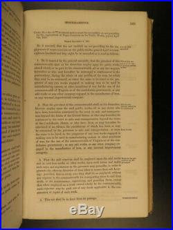 1862 Confederate Virginia CSA Civil WAR Acts & Laws of General Assembly
