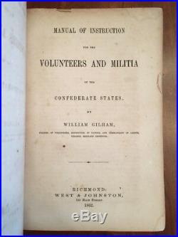 1862 Confederate Volunteers Militia RICHMOND Virginia Military Inst, VMI, Gilham