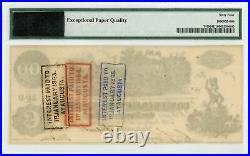 1862 T-39 $100 The Confederate States of America Note CIVIL WAR Era PMG 64 EPQ