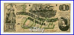 1862 T-45 $1 The Confederate States of America Note CIVIL WAR Era