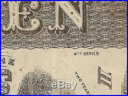 1863 $10 RV 4th SERIES CONFEDERATE STATES CURRENCY CIVIL WAR NOTE T-59 PF-7 PMG