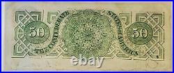 1863 $50 Confederate States of America CSA Paper Currency Civil War T-57 AU/UNC