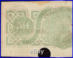 1863 $50 Dollar Bill Confederate States Currency Csa CIVIL War Note Money T-57