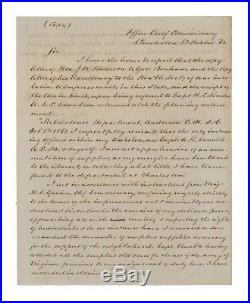 1863 Confederate Civil War Report Re Impressment Act & South Carolina Supplies