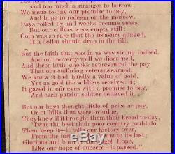 1864 $10 Dollar Confederate Poem On Back 1898 Relief Bazaar Paper CIVIL War Note