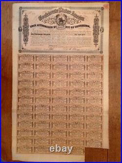 -1864 $1000 Confederate States of America CSA Civil War Bond