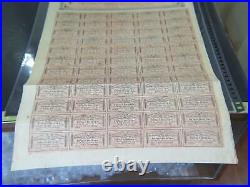 1864 CONFEDERATE STATES OF AMERICA $500 CIVIL WAR BOND With COUPONS 4TH SERIES