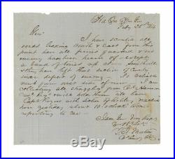 1864 Civil War Confederate 53rd Tennessee Recon Report after Battle of Okolona
