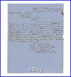 1864 Civil War Letter by Confederate Captain George W. Alderson Abingdon, VA