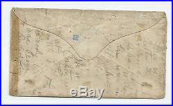 1864 Fort Delaware civil war POW cover confederate mixed franking F821.78