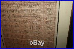 1864 Framed Matted Confederate States of America $500 Bond Civil War Coupons