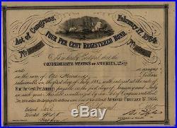 1864 The Confederate States of America War Bond Civil War