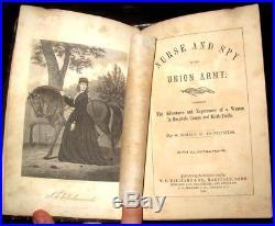1865 CIVIL WAR Woman SPY Blackface CONFEDERATE Nurse SECRET SERVICE Union MEMOIR