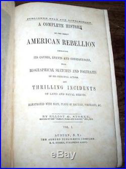1865 CIVIL War American Rebellion Confederate Union Leather Illustrated