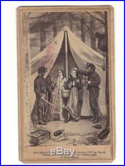1865 Photo Civil War CDV photo ad Confederate Jefferson Davis hiding with slaves