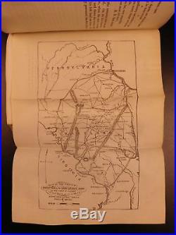 1866 1st ed Campaigns Robert E Lee McCabe CIVIL WAR Confederate Virginia MAPS