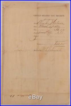 1866 Civil War Arkansas Confederate Insurrectionary District Direct Tax Form