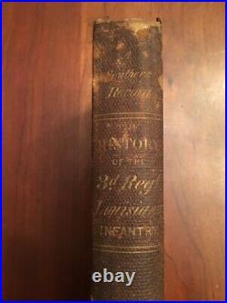 1866 History of the Third Regiment Louisiana Infantry, Confederate CSA Civil War