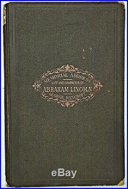 1866 President ABRAHAM LINCOLN Civil War ASSASSINATION Confederate Slavery Relic