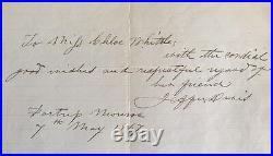 1867 JEFFERSON DAVIS Prison Letter CIVIL WAR Confederate President LINCOLN
